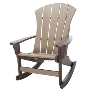 Sunrise Dew Chocolate/Weatherwood Adirondack Rocker