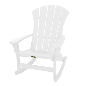 Sunrise Dew White Adirondack Rocker