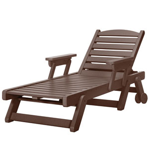 Sunrise Dew Chocolate Chaise Lounge
