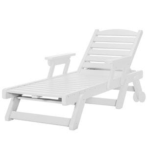 Sunrise Dew White Chaise Lounge
