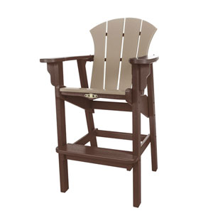 Sunrise Dew Chocolate/Weatherwood Hi Dining Chair