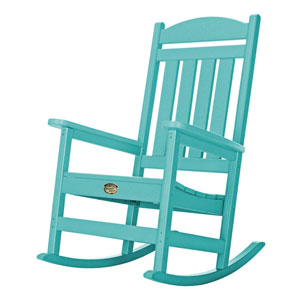 Sunrise Dew Turquoise Porch Rocker