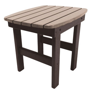 Chocolate/Weatherwood Side Table
