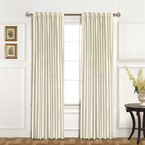 100% Dupioni Silk Oyster 84 x 42 In. Curtain Panel