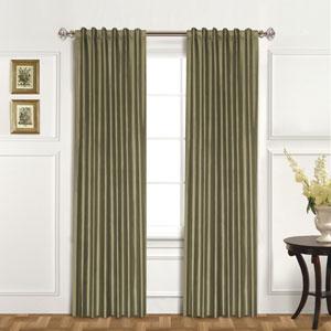100% Dupioni Silk Sage 84 x 42 In. Curtain Panel
