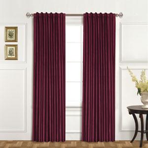 100% Dupioni Silk Burgundy 95 x 42 In. Curtain Panel