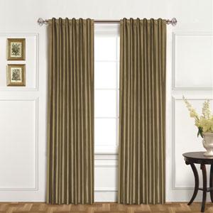 100% Dupioni Silk Taupe 95 x 42 In. Curtain Panel