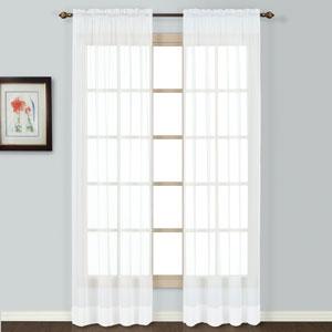 Batiste White 45 x 54 In. Curtain Panel