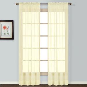 Batiste Yellow 45 x 54 In. Curtain Panel