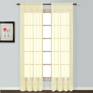Batiste Yellow 54 x 54 In. Curtain Panel