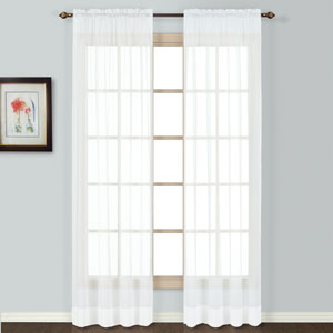 Batiste White 72 x 54 In. Curtain Panel