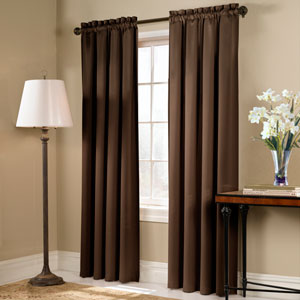Blackstone Chocolate 45 x 54 In. Curtain Panel