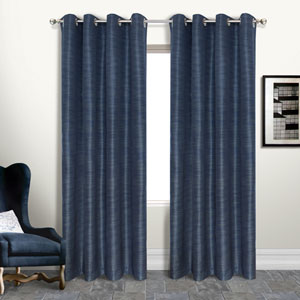 Brighton Navy 108 x 54 In. Curtain Panel, Set of Two