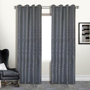 Brighton Platinum 108 x 54 In. Curtain Panel, Set of Two