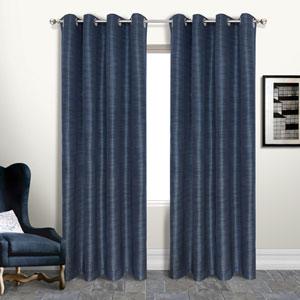 Brighton Navy 18 x 50 In. Curtain Panel