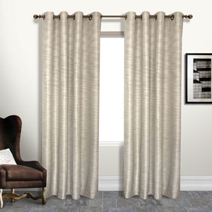 Brighton Beige 95 x 54 In. Curtain Panel, Set of Two