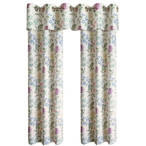 Christine Multicolor 63 x 74 In. Curtain Panel Set, Set of Two