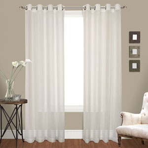 Cranston Natural 63 x 100 In. Curtain Panel Set, Set of Two