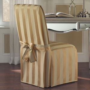 Madison Gold 39 X 18 In. Dining Room Chair Cover
