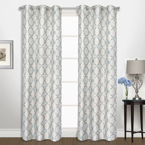 Georgia Blue 63 x 74 In. Curtain Panel Set, Set of Two