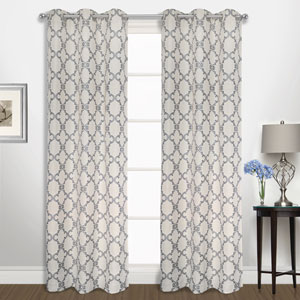 Georgia Navy 63 x 74 In. Curtain Panel Set, Set of Two