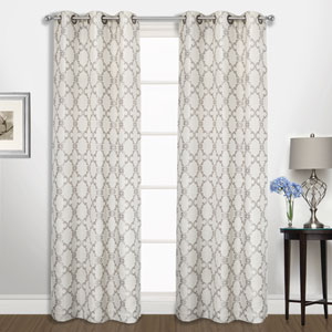 Georgia Platinum 84 x 74 In. Curtain Panel Set, Set of Two