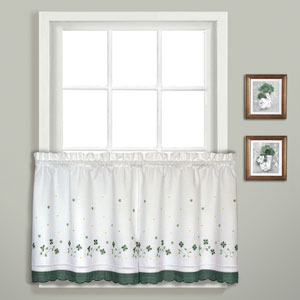 Gingham Green 36 x 60 In. Kitchen Tier Pair, Set of Two