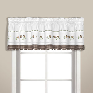 Gingham Taupe 14 x 60 In. Topper