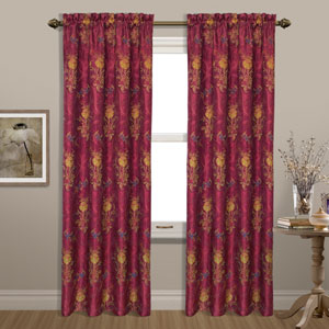 Jewel Burgundy 63 x 54 In. Curtain Panel