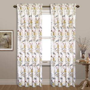 Jewel White 84 x 54 In. Curtain Panel