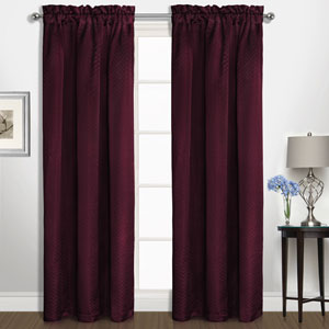 Kate Burgundy 63 x 50 In. Curtain Panel