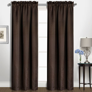 Kate Chocolate 63 x 50 In. Curtain Panel