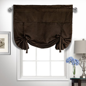 Kate Chocolate 63 x 40 In. Tie-up Shade