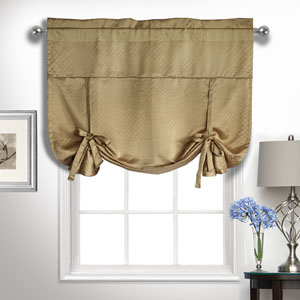 Kate Camel 63 x 40 In. Tie-up Shade