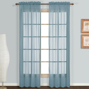 Monte Carlo Slate Blue 120 x 118 In. Curtain Panel Set, Set of Two