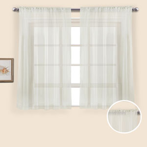 Monte Carlo Natural 54 x 118 In. Curtain Panel Set, Set of Two