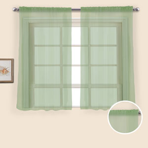 Monte Carlo Sage 54 x 118 In. Curtain Panel Set, Set of Two
