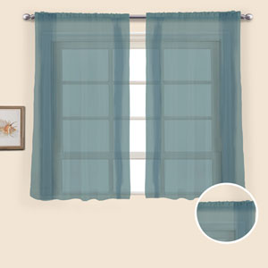 Monte Carlo Slate 54 x 118 In. Curtain Panel Set, Set of Two