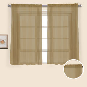 Monte Carlo Taupe 54 x 118 In. Curtain Panel Set, Set of Two