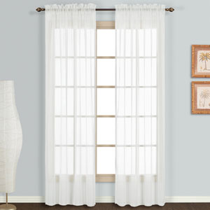 Monte Carlo White 63 x 118 In. Curtain Panel Set, Set of Two