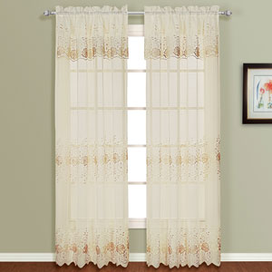 Marianna Natural 63 x 54 In. Curtain Panel Set, Set of Two