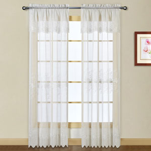 Marianna White 63 x 54 In. Curtain Panel Set, Set of Two