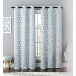 Mystique Blue 84 x 76 In. Curtain Panel Set, Set of Two