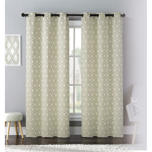 Mystique Green 84 x 76 In. Curtain Panel Set, Set of Two