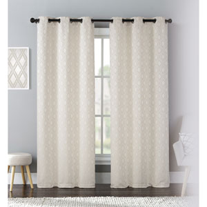 Mystique Natural 84 x 76 In. Curtain Panel Set, Set of Two