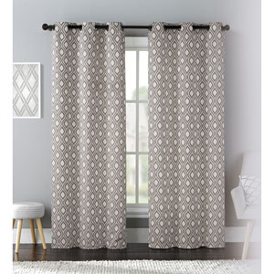 Mystique Taupe 84 x 76 In. Curtain Panel Set, Set of Two