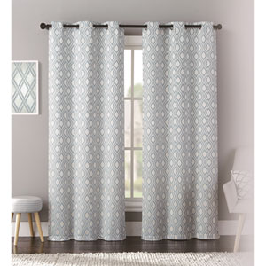 Mystique Blue 95 x 76 In. Curtain Panel Set, Set of Two
