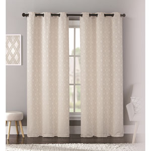 Mystique Natural 95 x 76 In. Curtain Panel Set, Set of Two