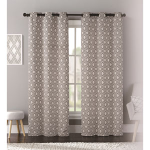 Mystique Taupe 95 x 76 In. Curtain Panel Set, Set of Two