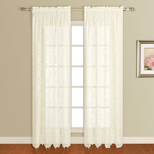 New Rochelle Natural 63 x 56 In. Curtain Panel